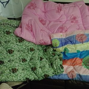 New comforters ONLY THE PINK AND GREEN AVAIL